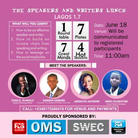 Speakers and Writers Lunch