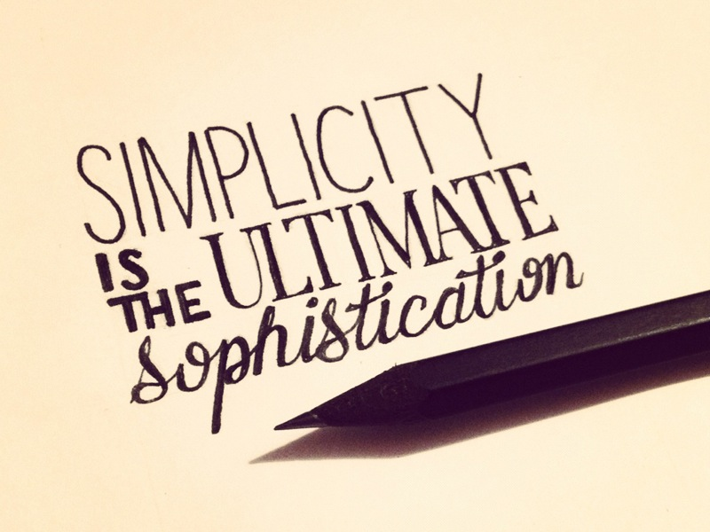 simplicity-is-the-ultimate-sophistication