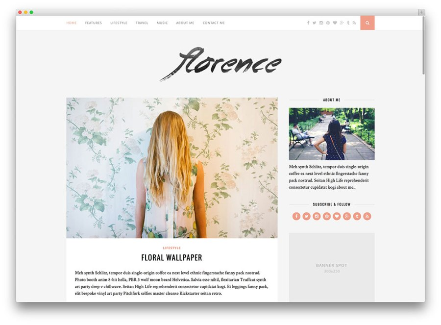florence-creative-blog-theme